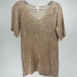 Chico's Top Women Size Small Pullover Open Knit Cr